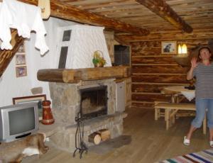 kominek w góralskim domku