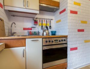 Mini kuchnia w apartamencie w Zakopanem