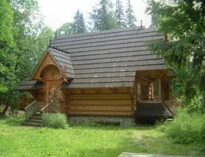 Góralski Domek Zakopane wejście od ogrodu