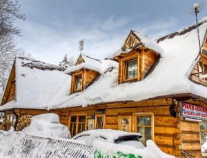 Góralski domek zimą