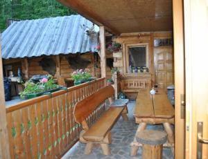 Domek Pod Pstrągiem w Pieninach - taras