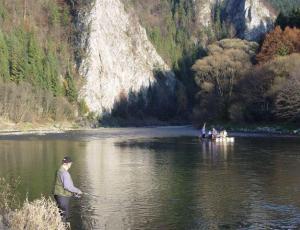 spining na Dunajcu w Pieninach