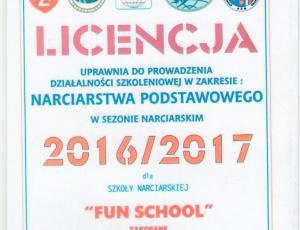Polski Zwiazek Narciarski licencja 2017