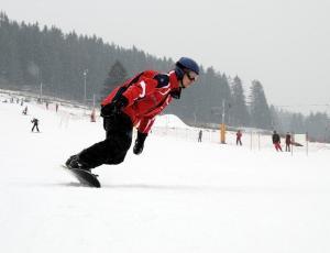 snowboard w Pieninach