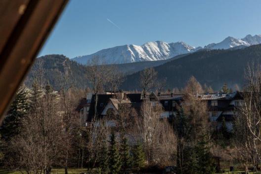 Widok z okna pensjonat w centrum