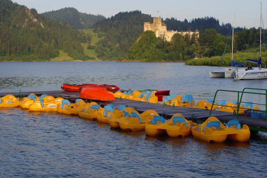 Rekreacja wodna w Pieninach - przystań